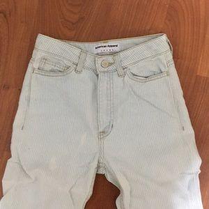 American Apparel light blue striped jeans